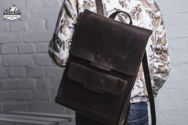 Удобный коричневый рюкзак BNZ-496