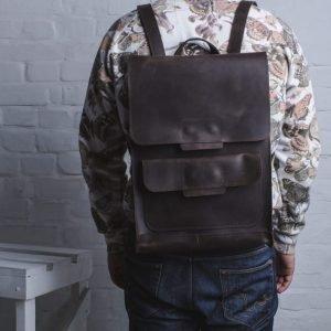 Солидный коричневый рюкзак BNZ-496