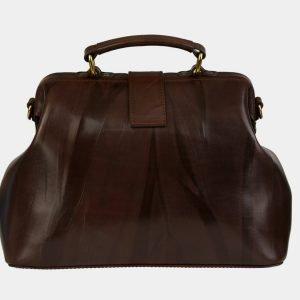 Удобная коричневая сумка с росписью ATS-3094 213525