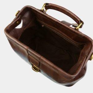 Удобная коричневая сумка с росписью ATS-3094 213526