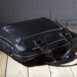 Деловая черная мужская классическая сумка BRL-9