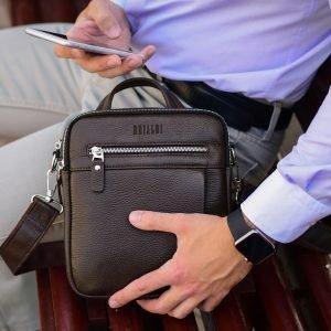 Неповторимая коричневая мужская сумка через плечо BRL-33398 223006