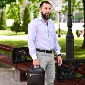 Стильная коричневая мужская сумка через плечо BRL-33395 222972