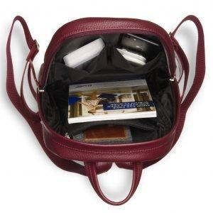 Неповторимый бордовый женский рюкзак BRL-17482