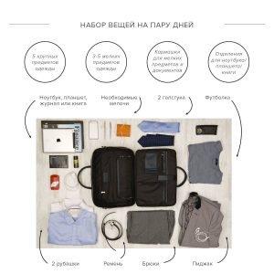 Удобная синяя мужская сумка трансформер через плечо BRL-23168 221930