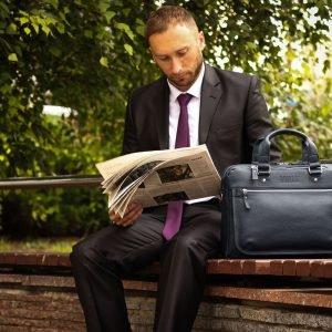 Функциональный синий мужской портфель деловой BRL-34108 223181