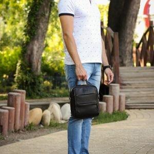 Функциональная черная мужская сумка через плечо BRL-34406 223383
