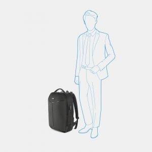 Модный черный рюкзак из пвх ATS-3822 211034