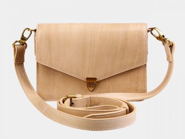 Уникальная бежевая женская сумка на пояс ATS-3031