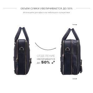 Удобная синяя мужская сумка трансформер через плечо BRL-23168 221924