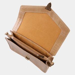 Уникальная бежевая женская сумка на пояс ATS-3031 213629