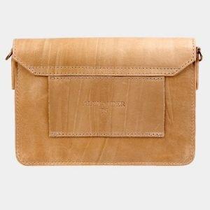 Уникальная бежевая женская сумка на пояс ATS-3031 213628