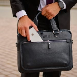 Функциональный синий мужской портфель деловой BRL-34108 223187