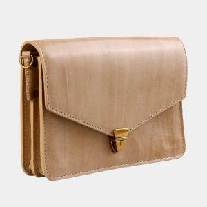 Уникальная бежевая женская сумка на пояс ATS-3031 213627