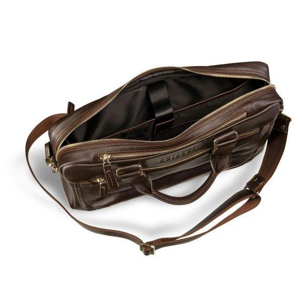 Стильная коричневая мужская классическая сумка BRL-2976