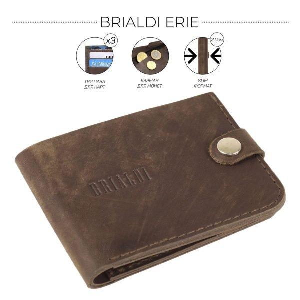 Модная коричневая мужская кожгалантерея BRL-9518