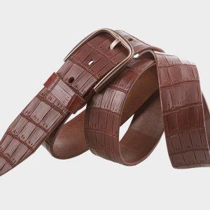 Стильный светло-коричневый мужской джинсовый ремень ATS-701 217188
