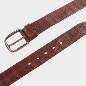 Стильный светло-коричневый мужской джинсовый ремень ATS-701 217187