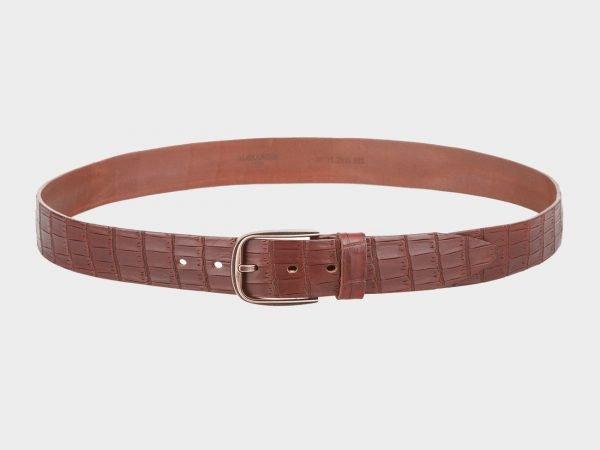 Стильный светло-коричневый мужской джинсовый ремень ATS-701