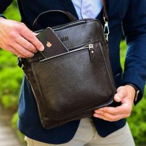 Стильная коричневая мужская сумка через плечо BRL-33395 222966