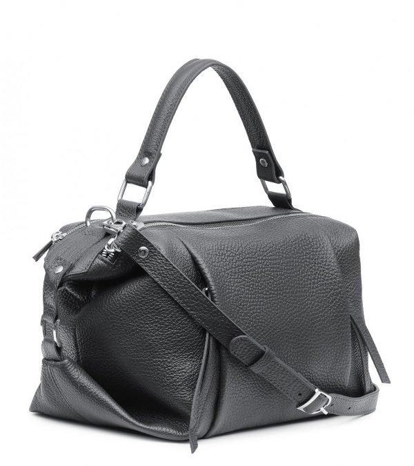 Кожаная серая женская сумка FBR-2370