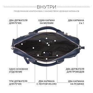 Функциональный синий мужской портфель деловой BRL-34108 223180