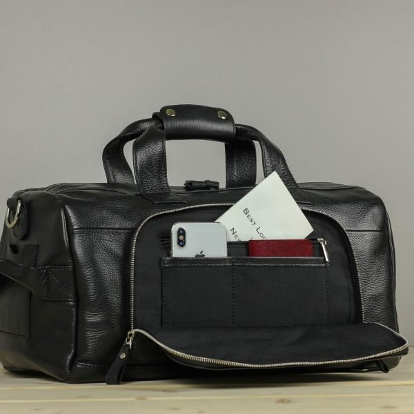 Стильная черная сумка для фитнеса BRL-30908