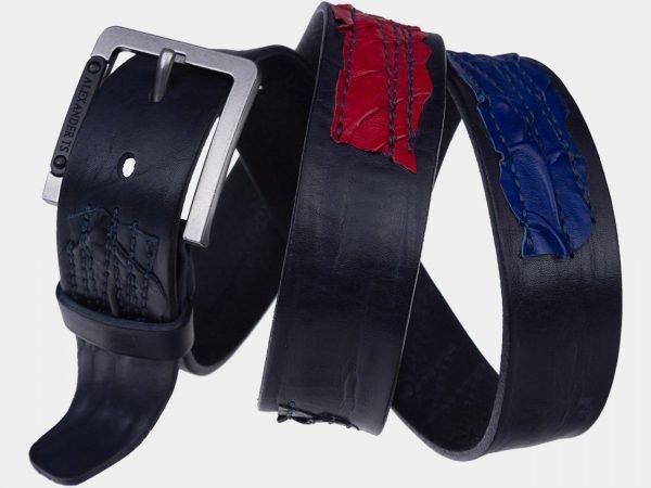 Уникальный синий мужской джинсовый ремень ATS-1820