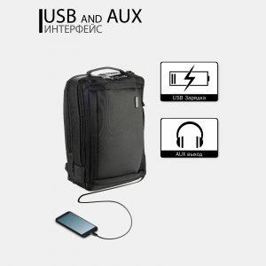 Неповторимый черный рюкзак из пвх ATS-3815 211079