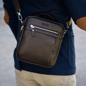 Неповторимая коричневая мужская сумка через плечо BRL-33398 223014