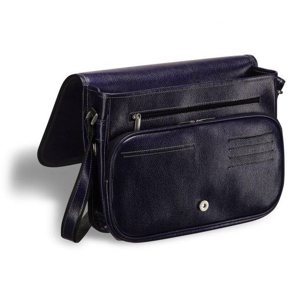Неповторимая синяя мужская сумка через плечо BRL-3281