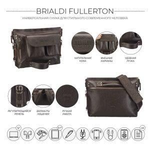 Удобная коричневая мужская сумка трансформер через плечо BRL-28405 222272
