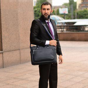Функциональный синий мужской портфель деловой BRL-34108 223193