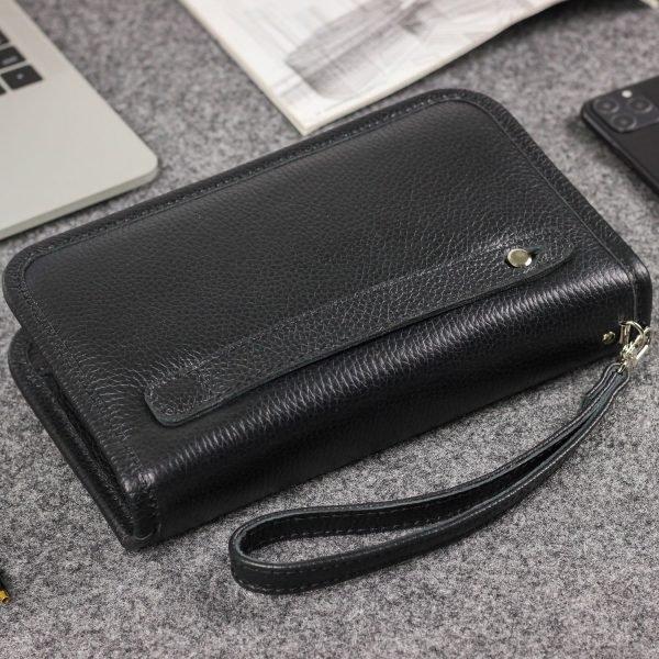 Удобный черный мужской портмоне BRL-44382