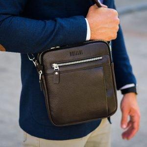 Неповторимая коричневая мужская сумка через плечо BRL-33398 223010