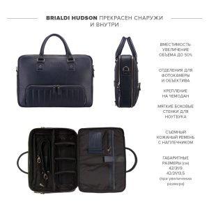 Удобная синяя мужская сумка трансформер через плечо BRL-23168 221928