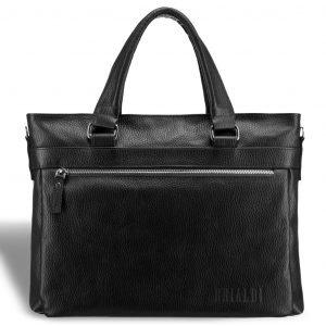 Удобная черная мужская кожгалантерея BRL-17816