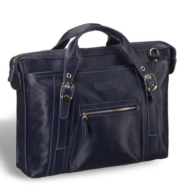 Удобная синяя мужская классическая сумка BRL-7544