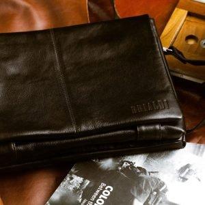 Удобная черная мужская сумка через плечо BRL-207 219857