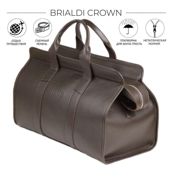 Неповторимый коричневый дорожный саквояж BRL-30868