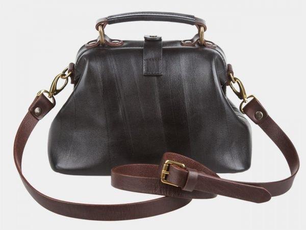 Кожаная черная женская сумка ATS-968
