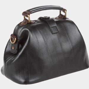 Кожаная черная женская сумка ATS-968 217069
