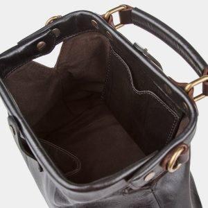 Кожаная черная женская сумка ATS-968 217070