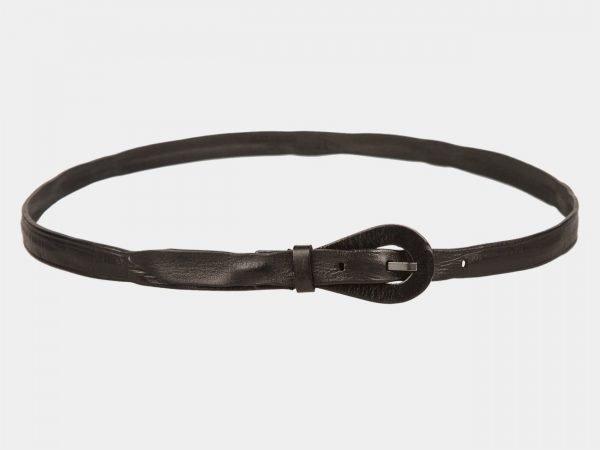 Кожаный черный женский модельный ремень ATS-1158