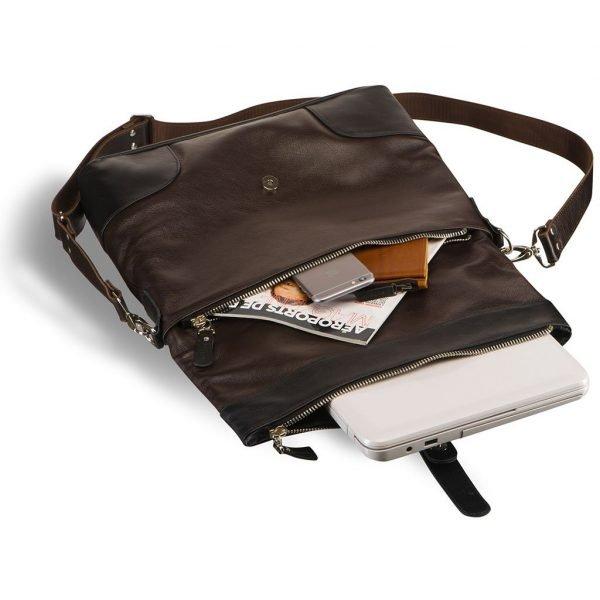 Модная коричневая мужская сумка трансформер BRL-3517