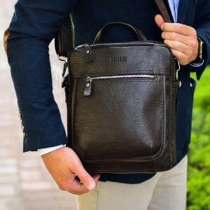 Стильная коричневая мужская сумка через плечо BRL-33395 222964