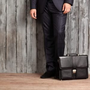 Функциональный черный мужской портфель для документов BRL-910