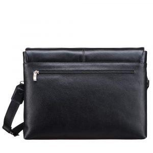 Удобная черная мужская сумка через плечо BRL-207 219853