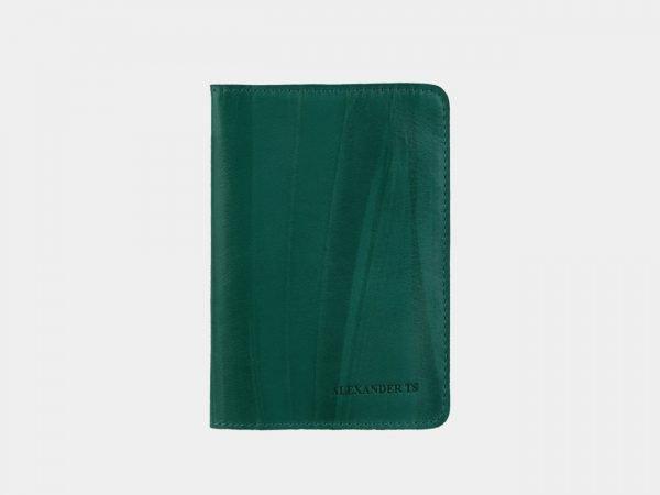 Неповторимая зеленая обложка для паспорта ATS-3119