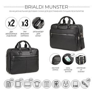 Модная черная мужская сумка BRL-34132